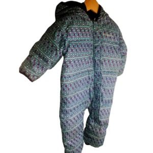 Columbia 12 - 18 M Down Hooded Snowsuit